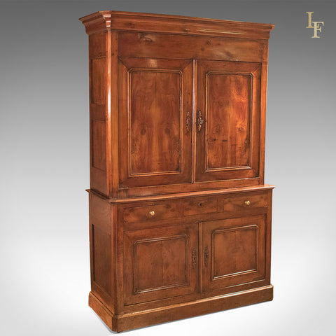 Antique Buffet A Deux Corps, Yew Wood c.1780 - London Fine Antiques