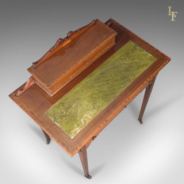 Edwardian Antique Writing Table, Top Quality Desk, London, England, Cooper & Holt c.1910