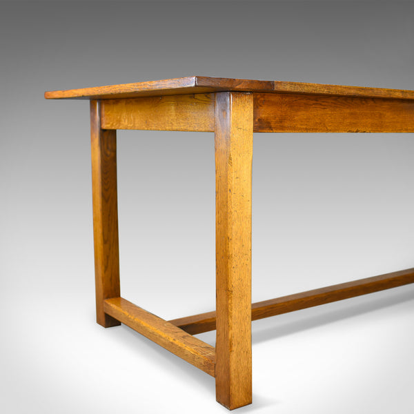Refectory Dining Table, C20th in C17th Taste, Oak, Seating 6-8, Country Kitchen - London Fine Antiques
