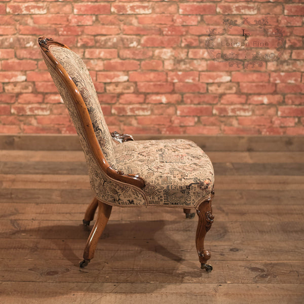 Chairs & Seating-Regency Antique Chair, English Walnut c1820 - 4