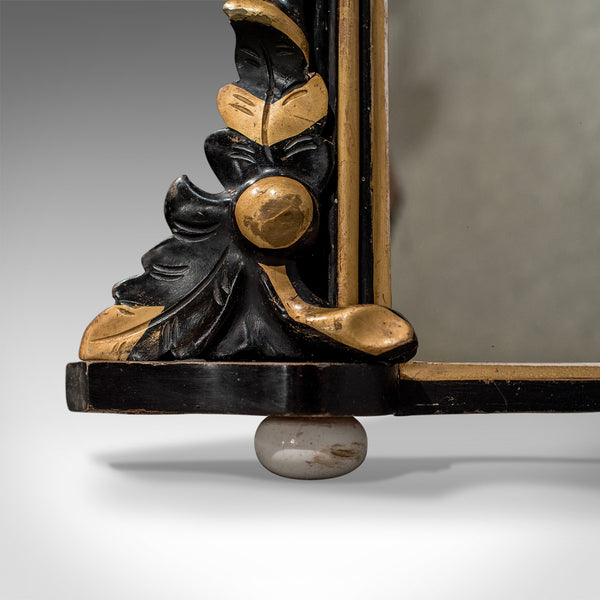 Regency Antique Overmantle Mirror in Ebonised Giltwood Frame Circa 1820