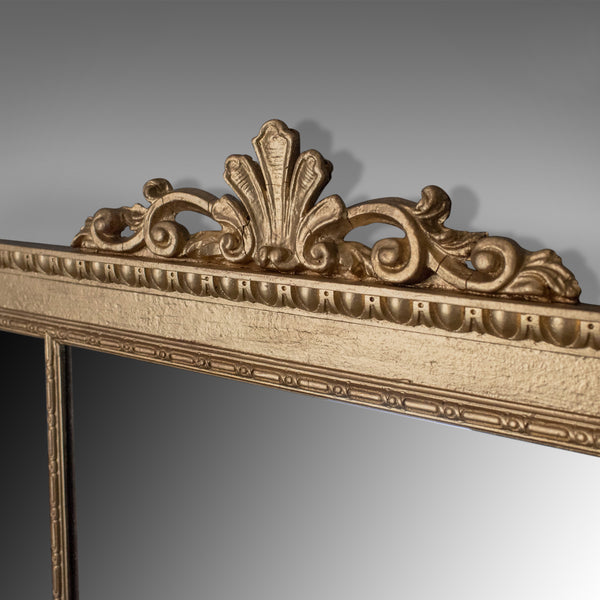 Regency Revival Overmantel Mirror, English Late 20th Century, Wall, Triptych