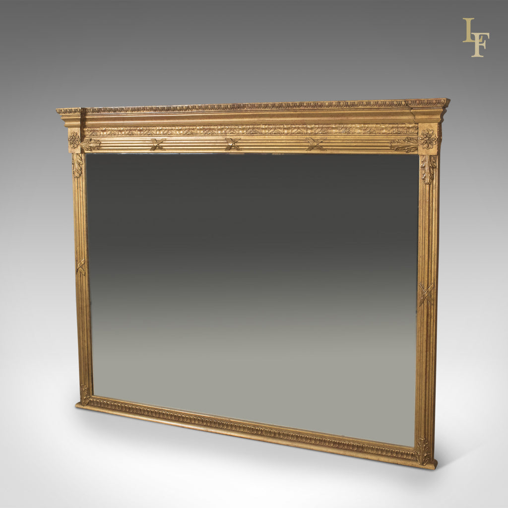 Regency Revival Overmantel Mirror, Top Quality, Late C20th, Wall - London Fine Antiques