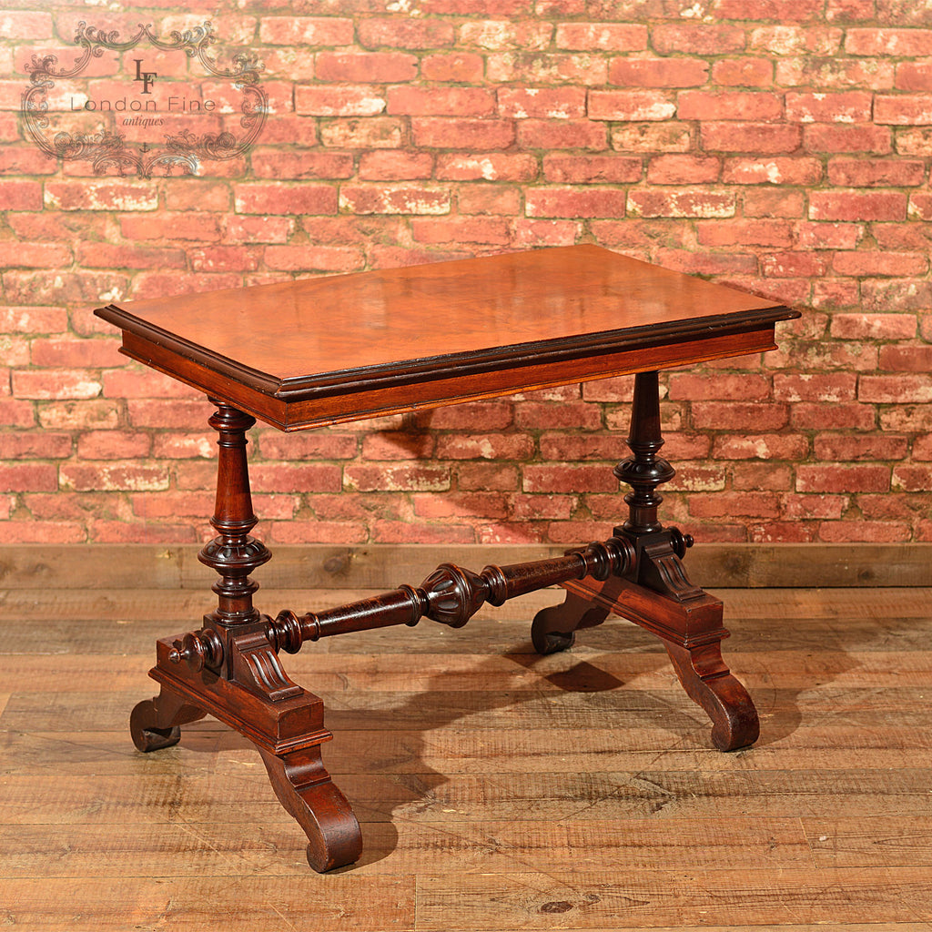 Victorian Mahogany Library Table, c.1860 - London Fine Antiques - 1