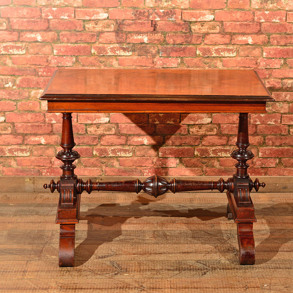 Victorian Mahogany Library Table, c.1860 - London Fine Antiques - 2