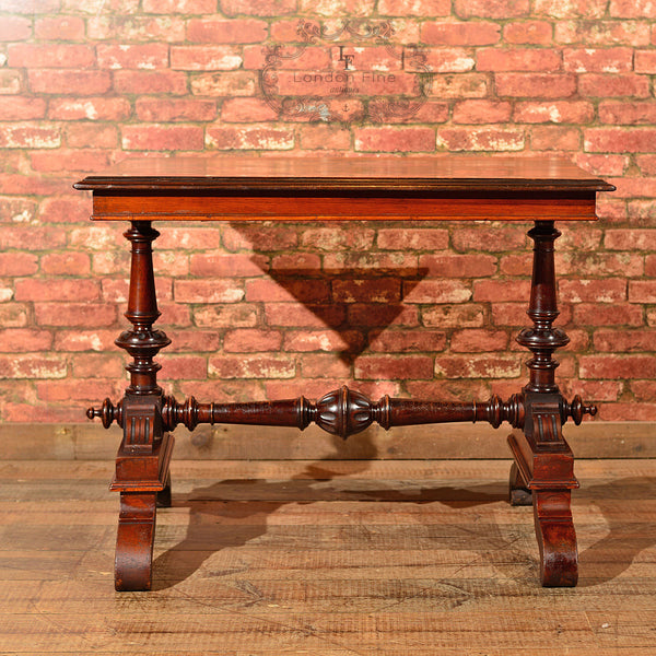 Victorian Mahogany Library Table, c.1860 - London Fine Antiques - 3