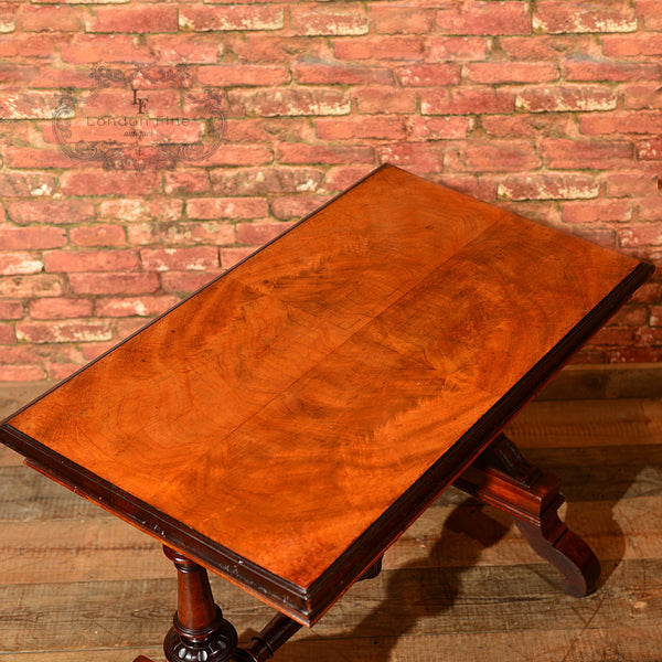 Victorian Mahogany Library Table, c.1860 - London Fine Antiques - 6