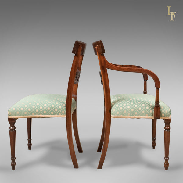 Set of 10 Dining Chairs in the English Regency Taste - London Fine Antiques