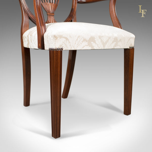 Set of 6 Dining Chairs, Late 20th Century, Retailed by Harrods of London