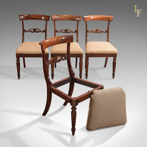Set of Four Antique Dining Chairs, Regency c.1820 - London Fine Antiques