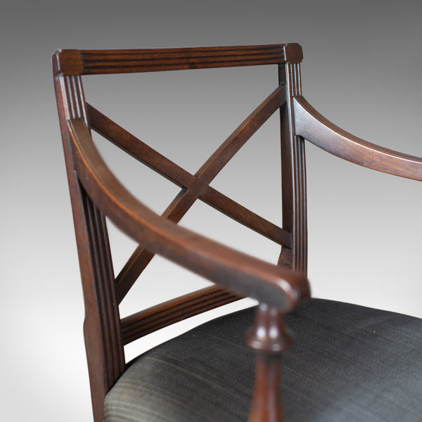 9 Antique Dining Chairs, 2 x Carvers, 6 plus 1 Spare Side, Regency, circa 1815 - London Fine Antiques