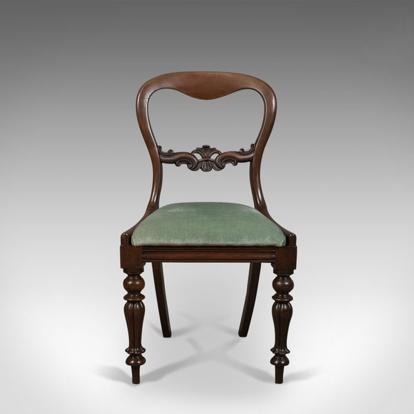 Set of Four Antique Dining Chairs, English, Buckle Back, Mahogany Circa 1835