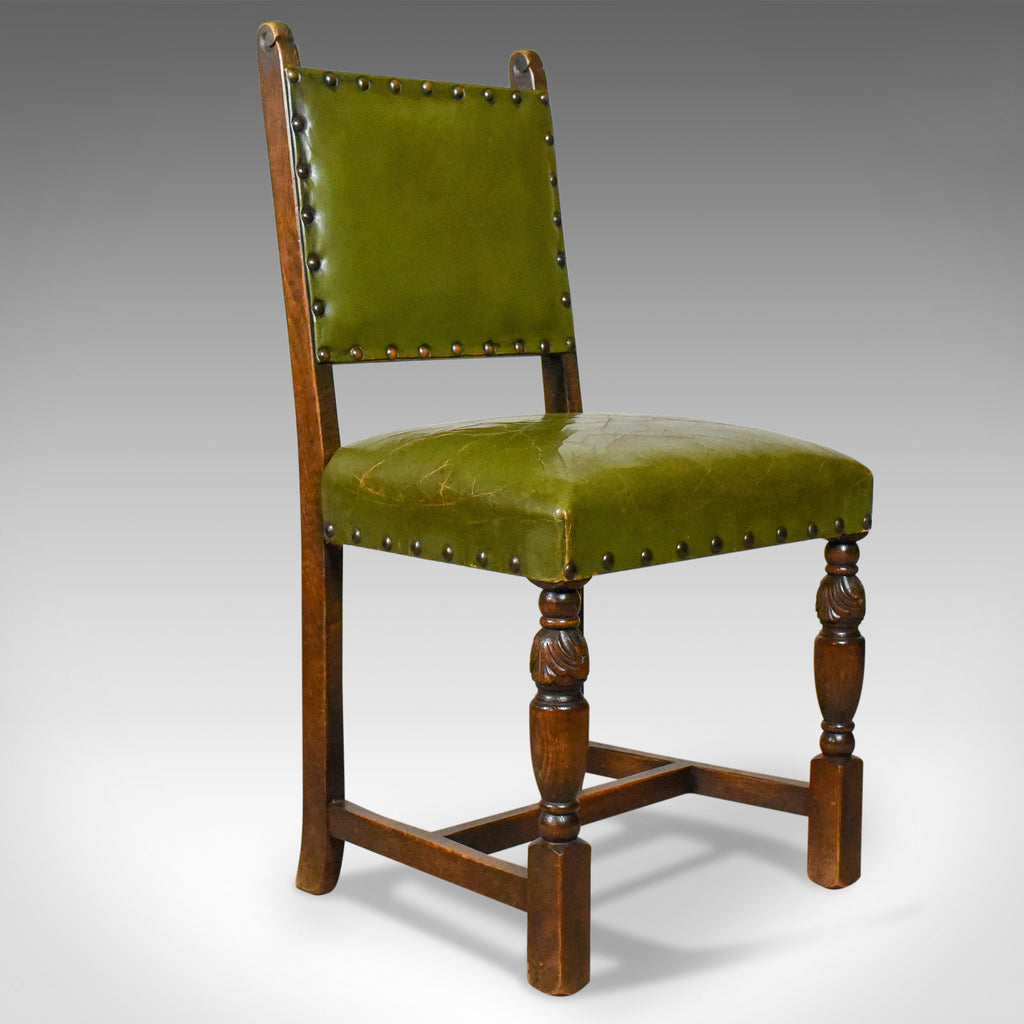 Swell Set Of Four Antique Dining Chairs Jacobean Revival English Oak Circa 1910 Bralicious Painted Fabric Chair Ideas Braliciousco