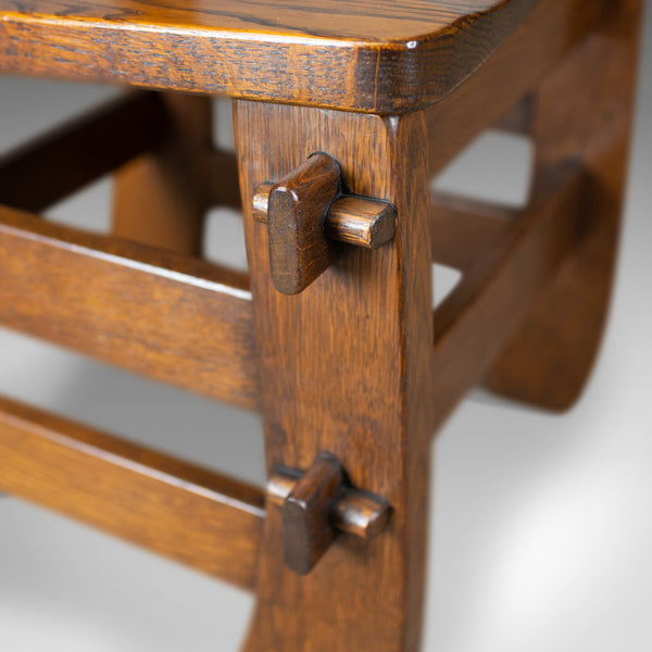 Set of Four Dining Chairs, English, Oak, Arts & Crafts Revival, Late C20th - London Fine Antiques