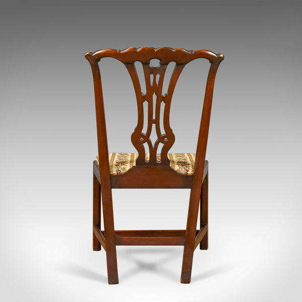 Set of Six Antique Dining Chairs, English Victorian Chippendale Taste Circa 1900 - London Fine Antiques