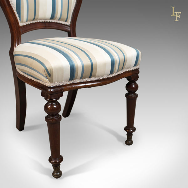 Set of Six Antique Dining Chairs, English, Victorian, Mahogany, Circa 1860