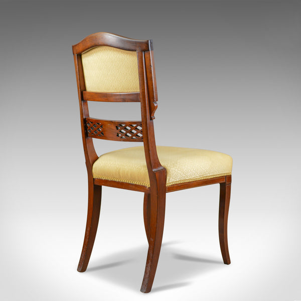 Set of Six, Antique, Dining Chairs, English, Regency, Mahogany, Circa 1820 - London Fine Antiques