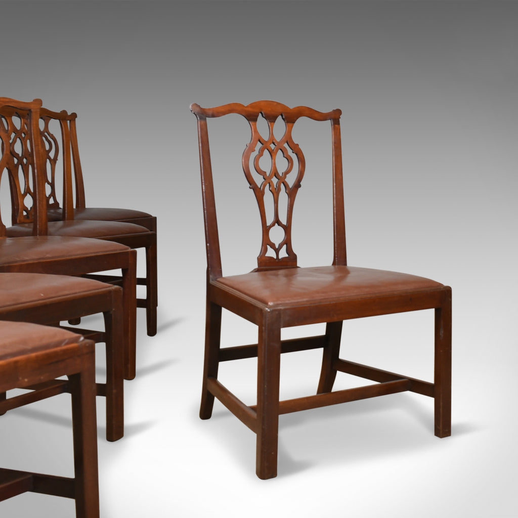 755429436e1e0 Set of Six Antique Dining Chairs