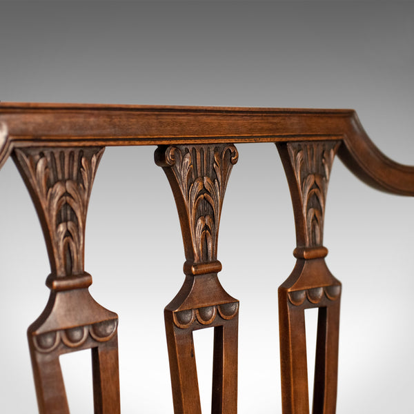 Set of Six Antique Dining Chairs, Mahogany, Victorian, Sheraton Revival c.1900