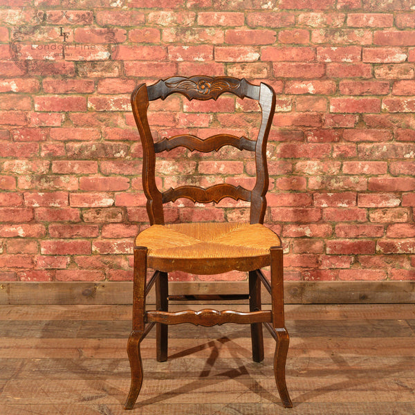 Set of Six Antique French Rush Seat Dining Chairs - London Fine Antiques