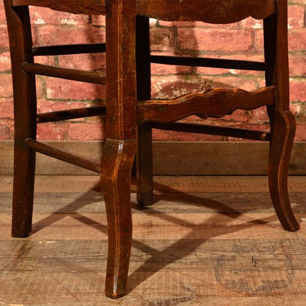 Set of Six Antique French Rush Seat Dining Chairs - London Fine Antiques - 8