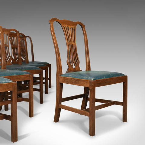 Set of Six Dining Chairs, English, Hepplewhite Revival, Victorian, Circa 1880