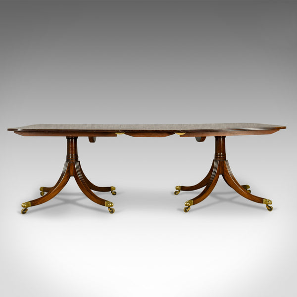 Six to Eight Seat, Extending Dining Table in Regency Taste, Mahogany, C20th