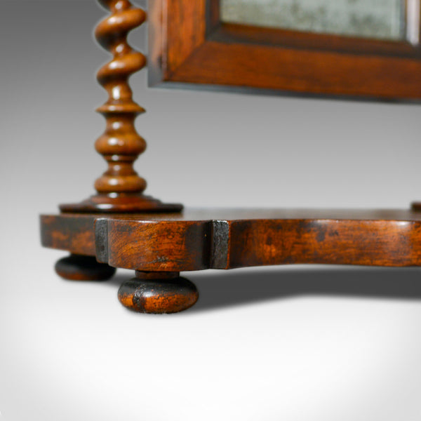 Small Antique Platform Mirror, English, Rosewood, Dressing Table, Toilet, c.1850 - London Fine Antiques