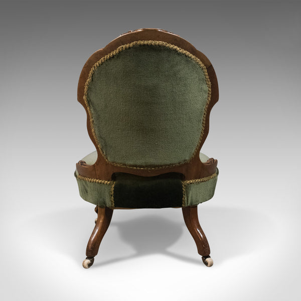 Small Antique Regency Nursing Chair, English, Walnut, Salon Circa 1820 - London Fine Antiques