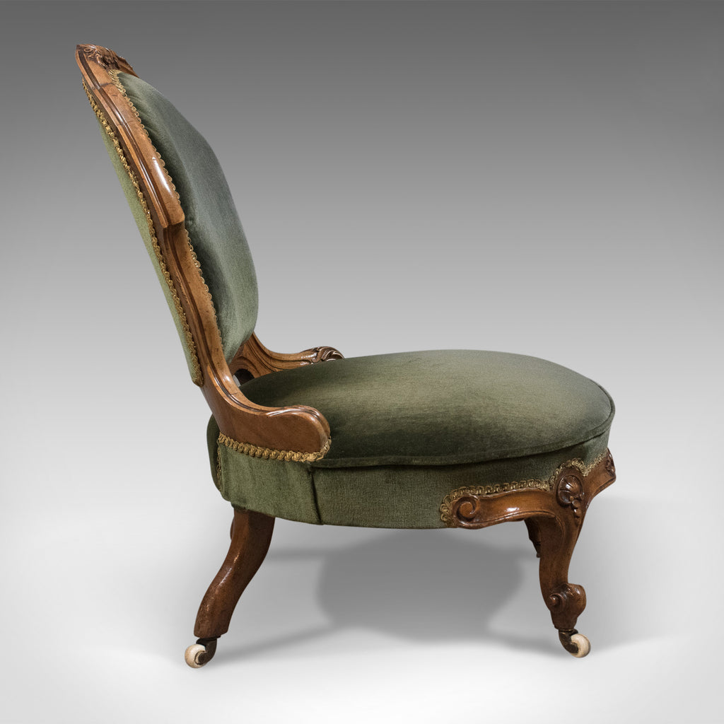 Small Antique Regency Nursing Chair English Walnut