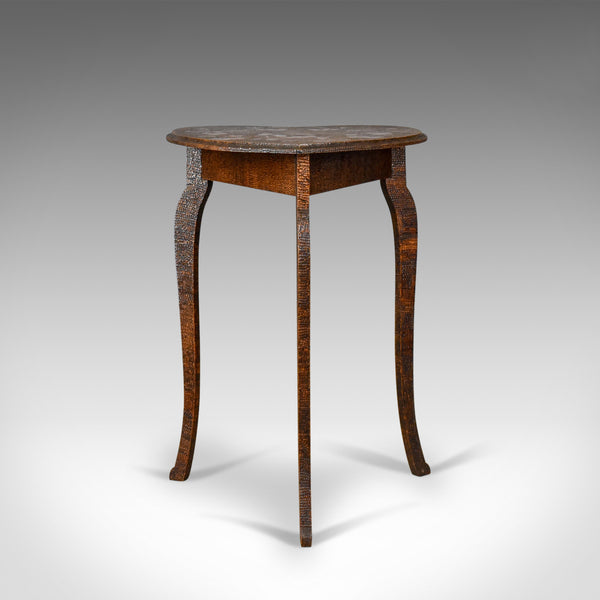 Small Carved Occasional Table, Early 20th Century, Asian Origins, Circa 1920