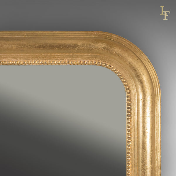 Very Large Overmantel Mirror, Late C20th in Regency Taste, English