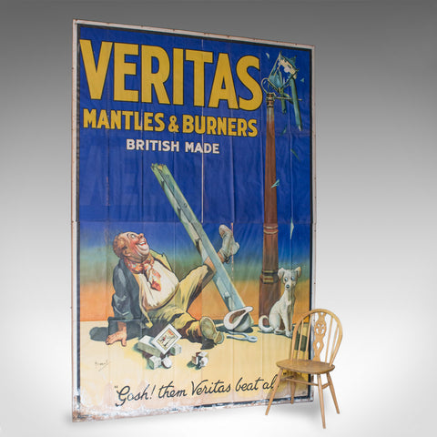 Very Large Antique Advertisement Poster, Veritas, Lithograph, John Hassall c1920 - London Fine Antiques
