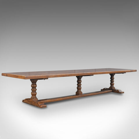 Very Large English Refectory Table in the Jacobean Manner, 14 Foot Long Seats 20 - London Fine Antiques