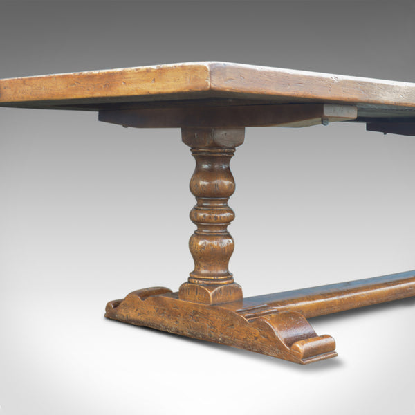 Very Large English Refectory Table in the Jacobean Manner, 14 Foot Long Seats 20