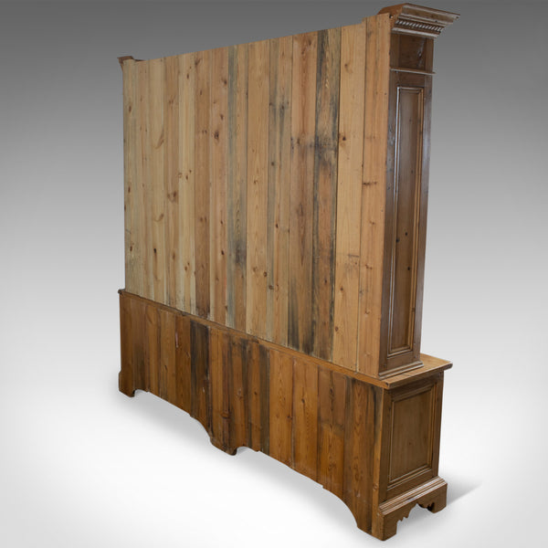 Very Large Pine Dresser, Antique Pine Stocks, Crafted C20th, Classical Revival