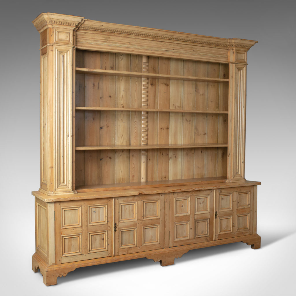 Very Large Pine Dresser, Antique Pine Stocks, Crafted C20th, Classical Revival - London Fine Antiques