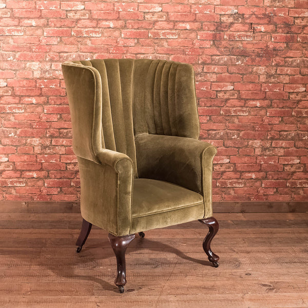 Victorian Antique Armchair, Scottish Fireside Wing Back - London Fine Antiques
