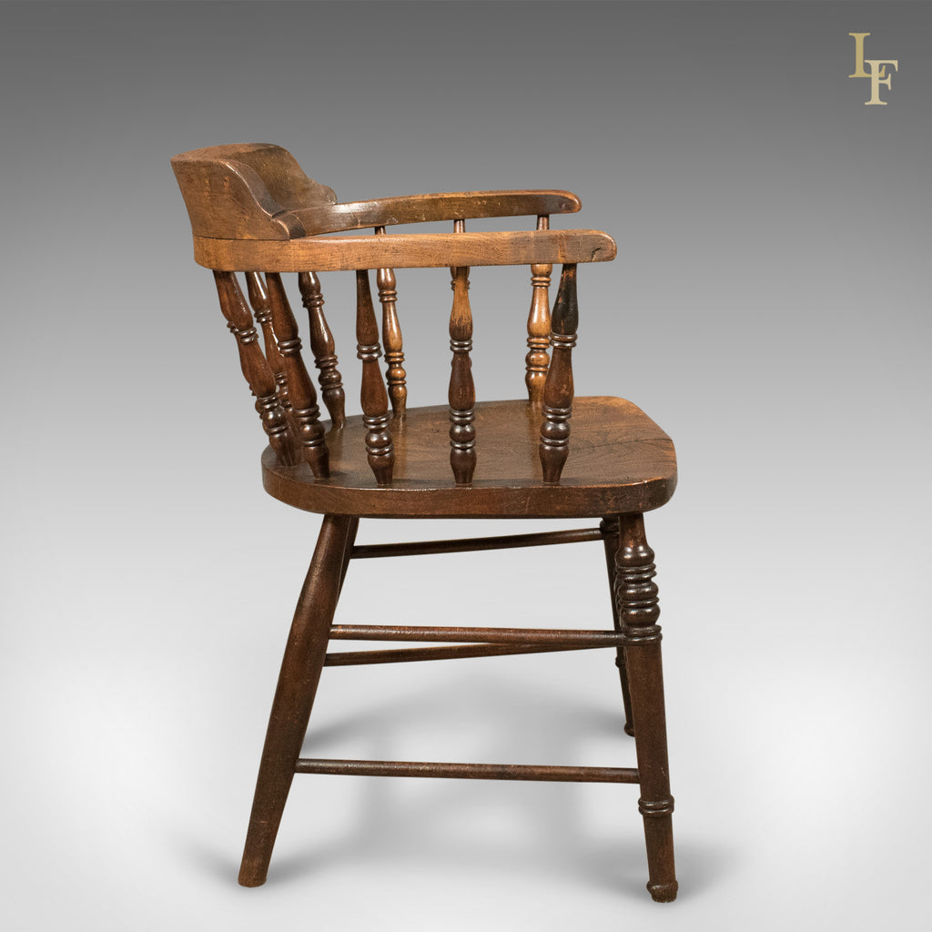 ... Victorian Antique Bow Back Chair, English Elm Windsor C.1870 ...