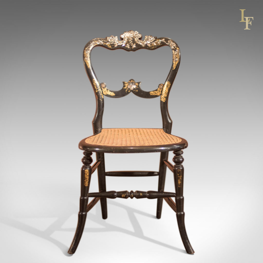 victorian set of four antique dining chairs lacquered london fine antiques. Black Bedroom Furniture Sets. Home Design Ideas