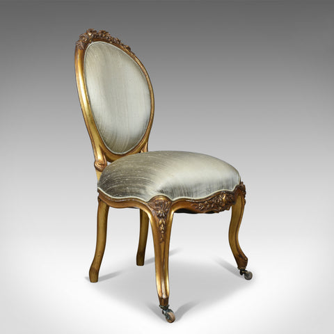 Vintage 20th Century Salon Chair in Antique French Taste, Giltwood, circa 1970 - London Fine Antiques