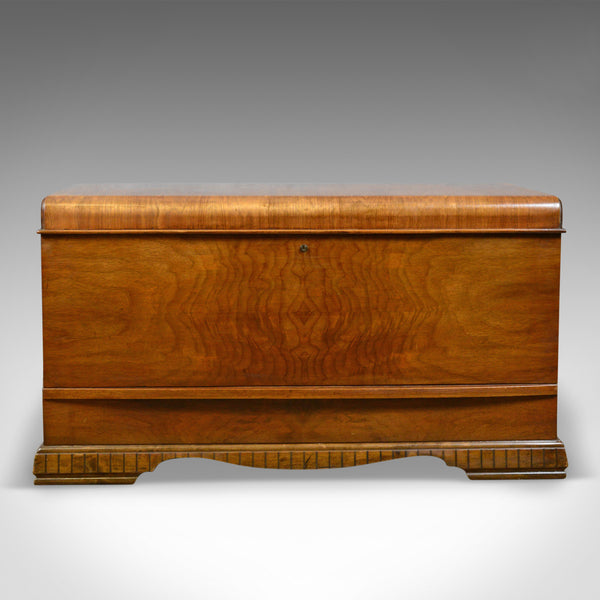 Vintage '30's Canadian Cedar Storage Trunk, Blanket Chest, Art Deco Period - London Fine Antiques