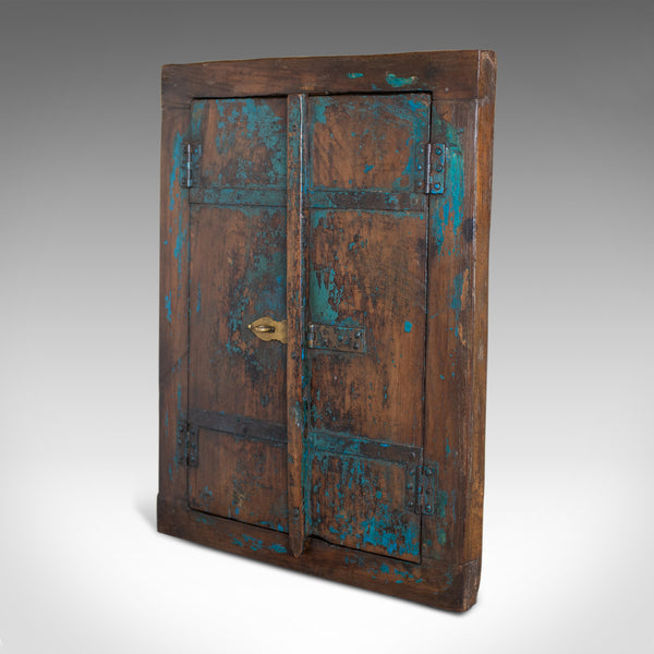 Vintage Asian Cupboard Mirror, Rustic, Wall Cabinet, Mid-Late 20th Century - London Fine Antiques