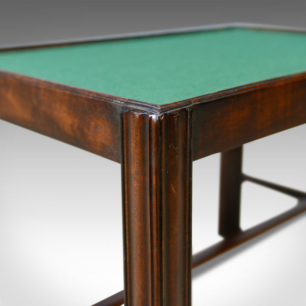Vintage, Baize Top Side Table, English, Mahogany, Late 20th Century - London Fine Antiques