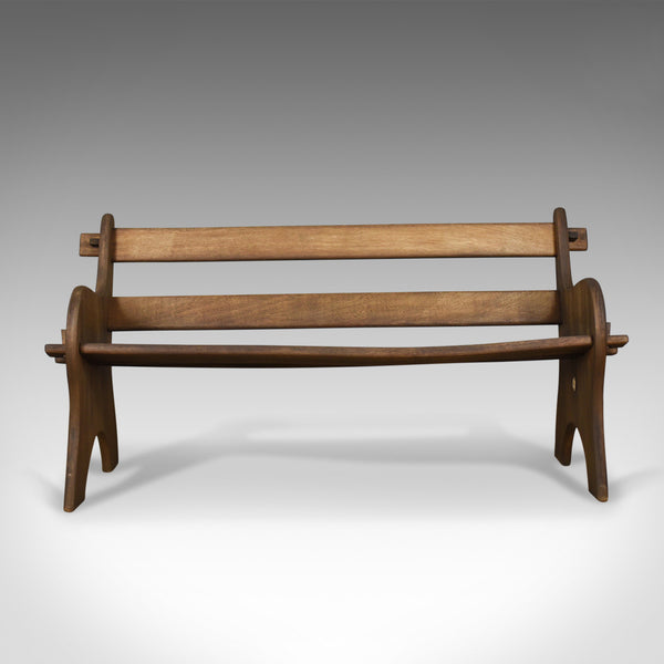 Vintage Branson Burbage Bench, English, Hardwood, Outdoor, Indoor Late C20th
