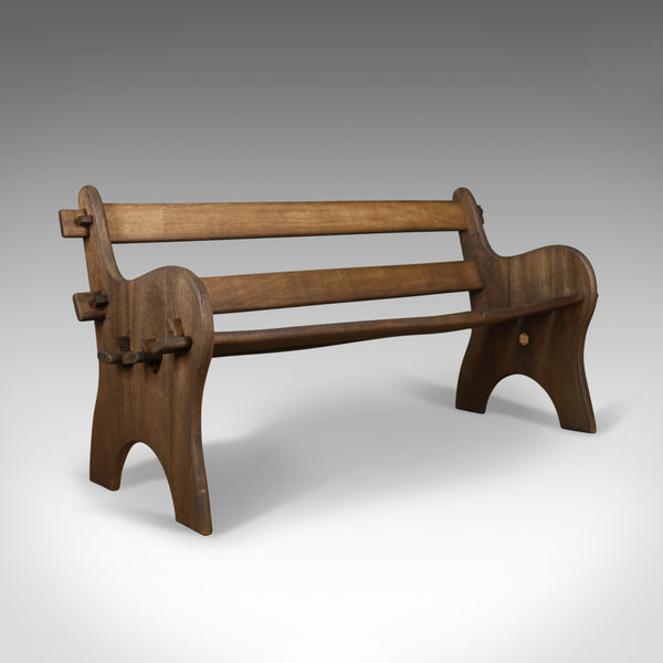 Vintage Branson Burbage Bench, English, Hardwood, Outdoor, Indoor Late C20th - London Fine Antiques