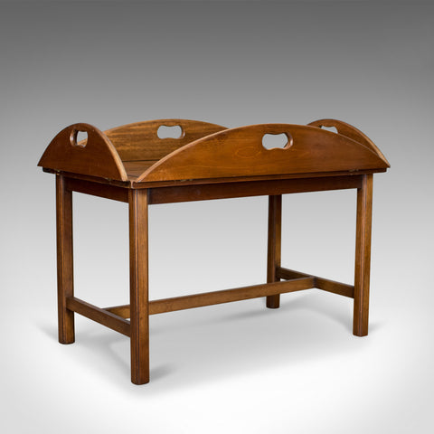 Vintage Butler's Tray Table, English, Mahogany, Coffee, Late 20th Century