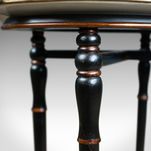 Vintage Butlers Tray Table, Italian, Mannerist Revival, Enamel, Ebonised C20th - London Fine Antiques