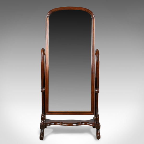 Vintage Cheval Mirror, English, Victorian Revival, Full Length Dressing, c.1970