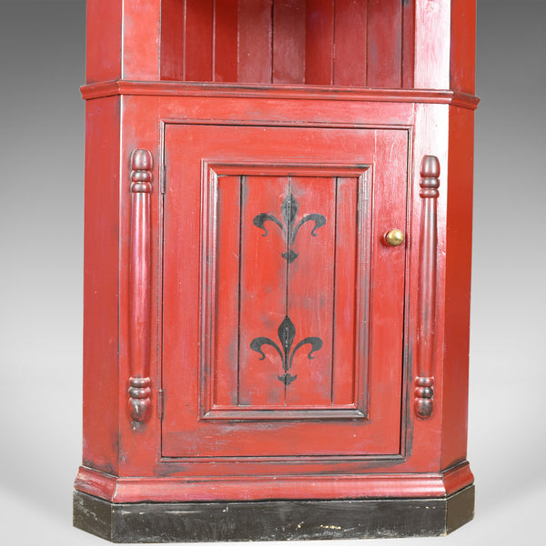 Vintage Corner Cabinet, Late 20th Century, Painted, Pine Cupboard - London Fine Antiques
